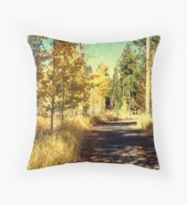 """Mountain Road"" Throw Pillow"