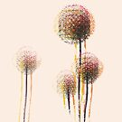 Moderner abstrakter Autumn Flower Trees # 2 von Van Nhan Ngo