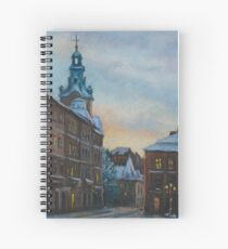 Lviv, Rynok sqr. at evening Spiral Notebook
