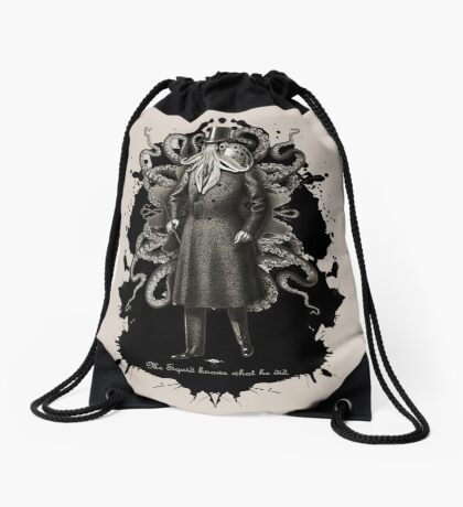 Mr Squid Drawstring Bag