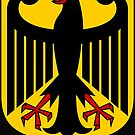 German Eagle , black on gold...1949 by edsimoneit