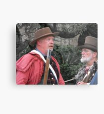 "Re-Enacting the Battle of the Alamo: ""HOW BIG is the Mexican Army?"" Metal Print"