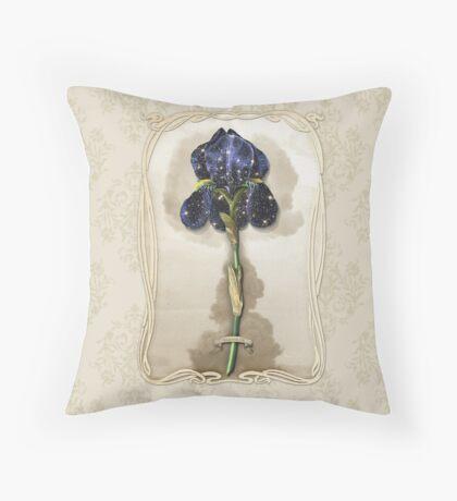 Night Iris Throw Pillow