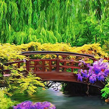 Flower Bridge Over a Creek by Skyviper