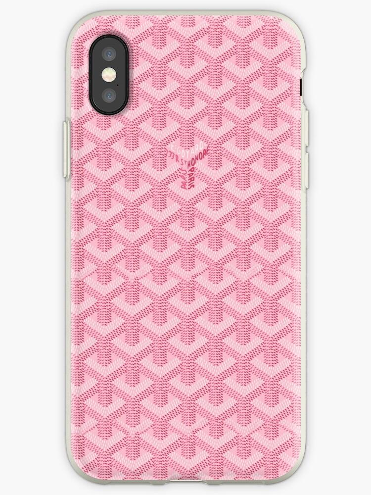 detailed look cb50c 46137 'pink goyard' iPhone Case by rundagepatri
