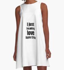 Apple Crisp Lover Gift I Love Dessert Funny Foodie A-Line Dress