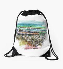 Gheenoe Love - Fish Art  Drawstring Bag