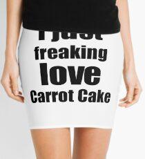 Carrot Cake Lover Gift I Love Dessert Funny Foodie Mini Skirt