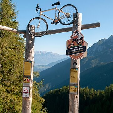 single trail, a downhill bicycle trail from the summit of Elfer mountain down to Neustift im Stubaital, Tyrol, Austria  by PhotoStock-Isra