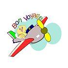 jet- Bon Voyage& White Floral pattern (6420 Views) by aldona