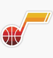 Utah Jazz Note Sticker