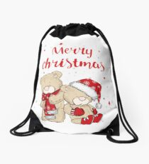 A distinctive and good design for the New Year and Christmas Drawstring Bag