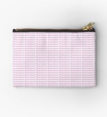 disappointed, pink font sticker Studio Pouch