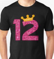 Happy Birthday Art, Girls 12th Party 12 Years Old Bday Unisex T-Shirt