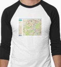 Sector West of Paris - RER - Train - Metro - Tram - France Men's Baseball ¾ T-Shirt