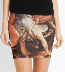 Vintage Guido Reni Archangel Michael c1636 Mini Skirt