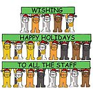 Happy Holidays to all the Staff, Cartoon Cats by KateTaylor