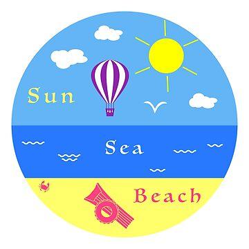 Summer leisure. Entertainment on the beach. by aquamarine-p