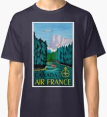 Vintage Travel Poster Canada Air France  Classic T-Shirt
