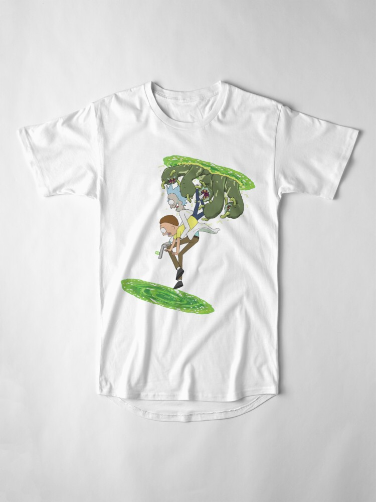 Alternate view of Rick and Morty - Portal Hopping Long T-Shirt