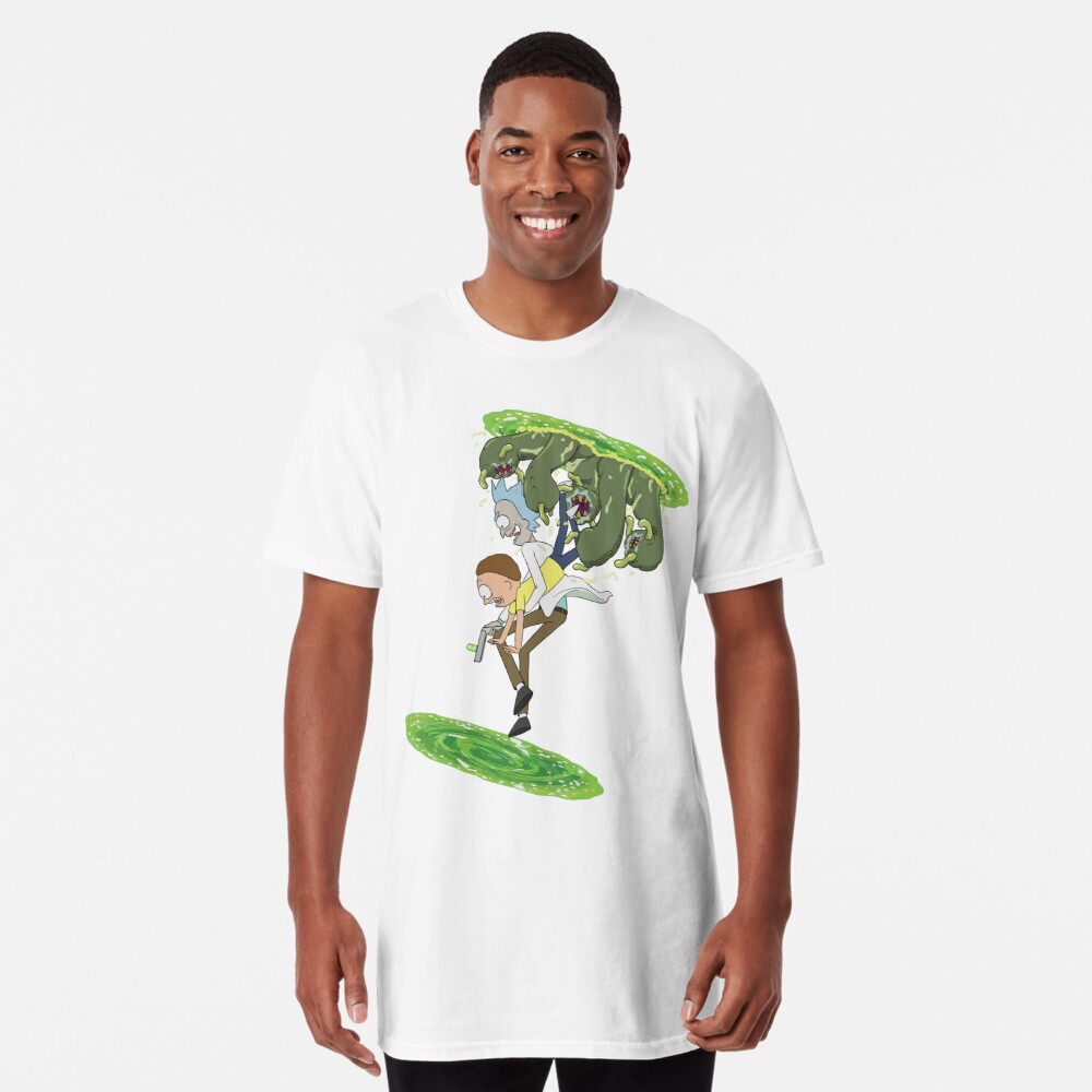 Rick and Morty - Portal Hopping Long T-Shirt