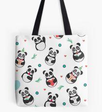 Cute Panda Pattern Tote Bag