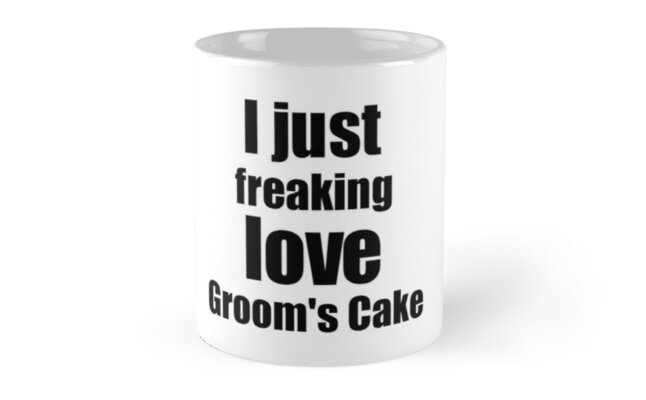 Groom's Cake Lover Gift I Love Dessert Funny Foodie by FunnyGiftIdeas