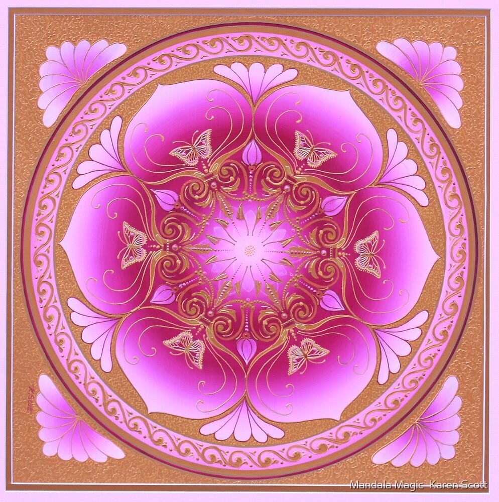 u0026quot contemplating pink lotus mandala u0026quot  by mandala magic karen