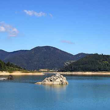 Zaovine lake on Tara mountain nature landscape by goceris