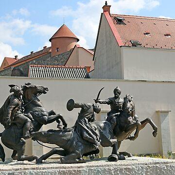 Epic battle monument Eger Hungary by goceris