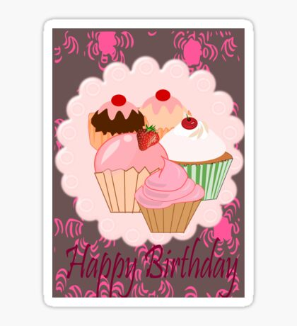 Cup Cakes (4017  Views) Sticker
