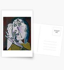 Pablo Picasso Weeping Woman, 1937 Artwork, Tshirts, Prints, Posters, Men, Women, Kids Postcards