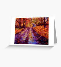 Connecticut Autumn Road Greeting Card