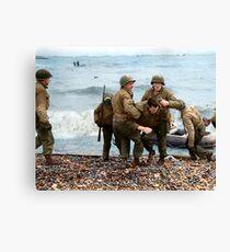 Omaha Beach landing - D Day Canvas Print