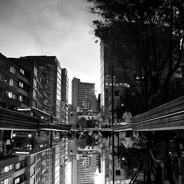 Reflected Glory - Bogota, Colombia BW by Evolve