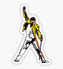 Mr Mercury Iconic Pose, Unforgettable Performance Artwork, Tshirts, Posters, Prints, Men, Women, Kids Sticker