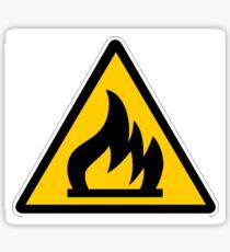 Flammable Sign Sticker