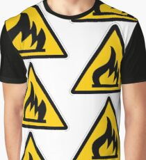 Flammable Sign Graphic T-Shirt