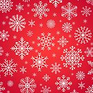 Snowflake Pattern Design in Red Color | Snowflake Christmas Decoration by Thubakabra