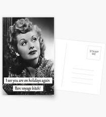 Bon voyage bitch! Postcards