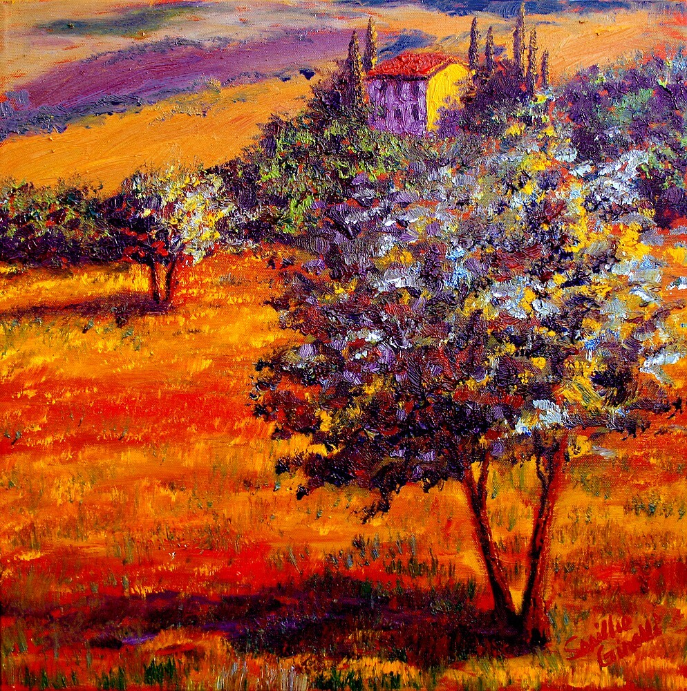 Hot Summer in the Olive Grove by sesillie