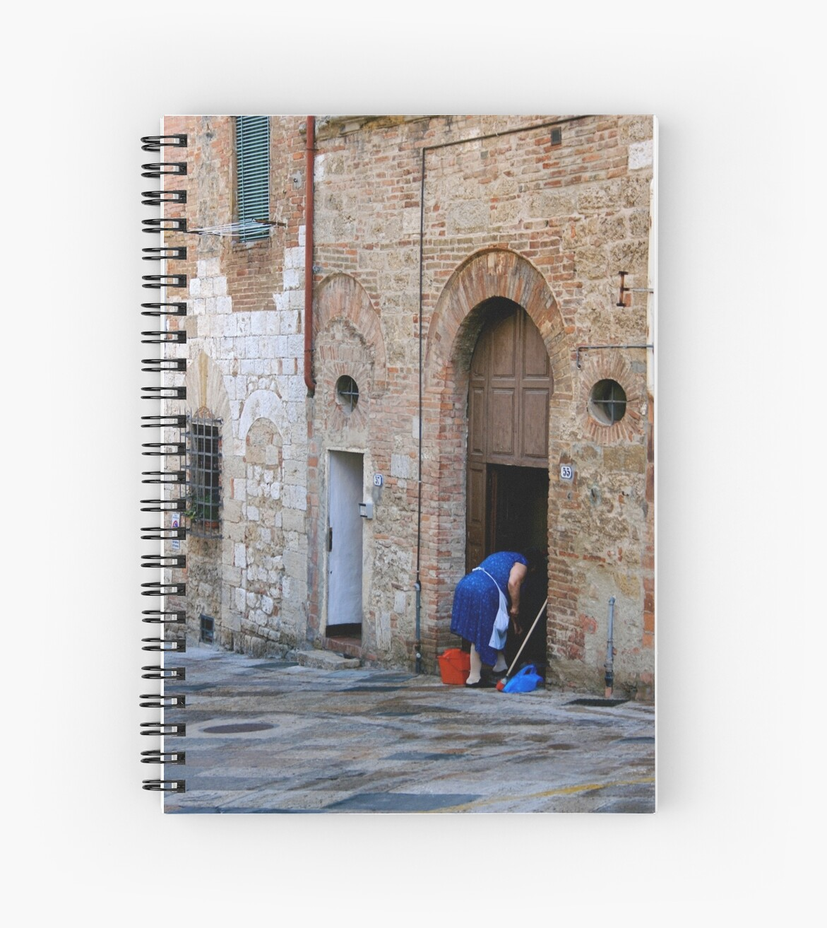 Woman Cleaning the Street Front, Italy by patti4glory