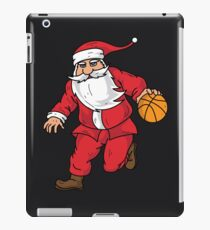 Santa Basketball Dunk Christmas Art | Winter Athlete Gift iPad Case/Skin