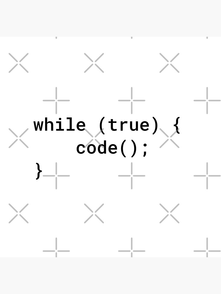 JavaScript - While True Code (Inverted) by developer-gifts