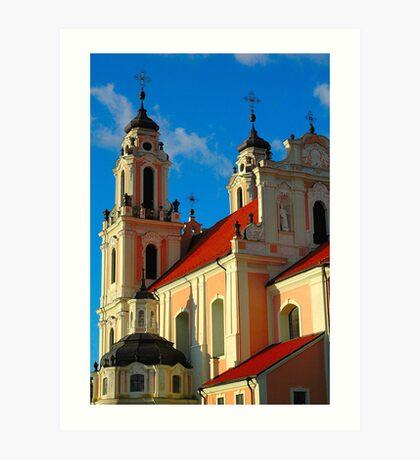 "Temples - ""City Church in Vilnius (LT)"" Art Print"