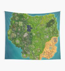 Fortnite Map Wall Tapestry