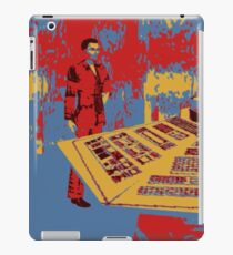 Christopher eccleston in tardis iPad Case/Skin