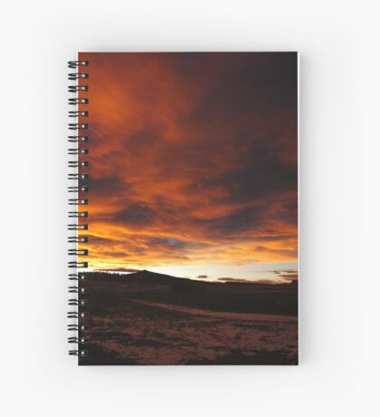Mountain New Year Spiral Notebook