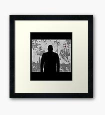 Devil in a snowstorm Framed Print