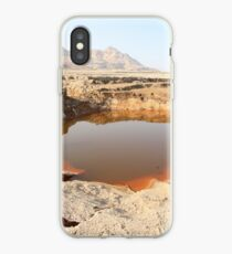 Israel, Dead Sea, Water pools in a sink hole on the shore of the Dead Sea iPhone Case